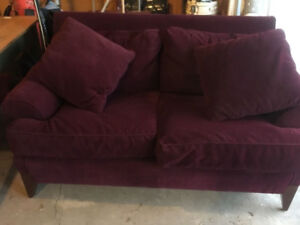 Burgundy Couch Set