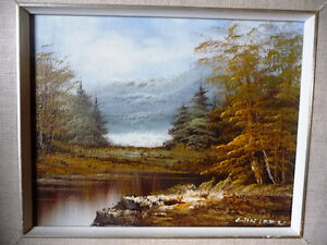 """Original Oil Painting by Phillip Cantrell """"Slow River Afternoon"""" Stratford Kitchener Area image 2"""