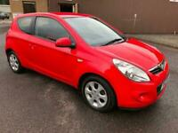 6011 Hyundai i20 1.2 Comfort Red 3 Door 67726mls MOT 12m