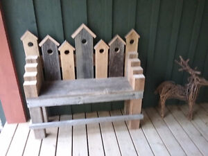 BARN BOARD BENCH AND MIRRORS