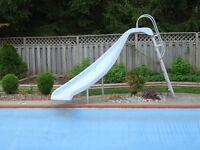 Inground Swimming Pool Slide and ladder.