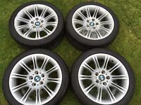 """BMW 18"""" alloy wheels and tyres"""