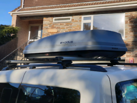 EXODUS ROOF BOX LARGE 470L VERY GOOD CONDITION GREY MADE BY THULE