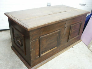 Antique Wooden Trunk, Chest or Blanket Box