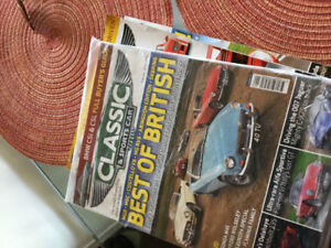 Classic and Sports car magazines. Some new in package.