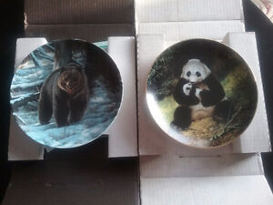 Bradford collectable plates.....(1) The Grizzly Bear....(2) Pand