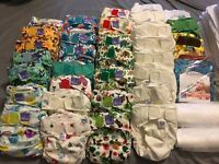 Huge bundle of cloth nappies