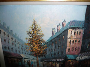 "Henry Rogers ""Paris Street, Evening"" Original Oil Painting Stratford Kitchener Area image 3"
