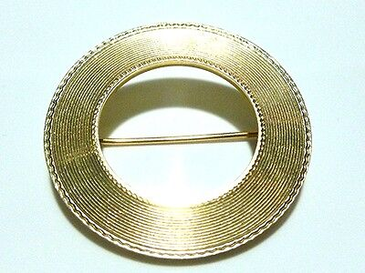 ESTATE VINTAGE TIFFANY & COMPANY 14K GOLD ETERNITY CIRCLE BROOCH PIN 1.25""