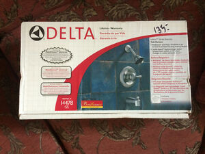 Delta shower head and faucet set