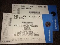 2 X Busted tickets - Friday 2nd September - Scarborough Open Air Theatre