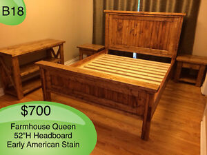 FARMHOUSE SOLID WOOD BED SINGLE, DOUBLE, QUEEN, KING