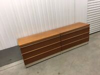 Pair of Vintage Retro 1960s Bath Cabinet Makers teak and white chest of drawers. G-Plan Danish.