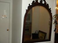 antique mirror in mahogany