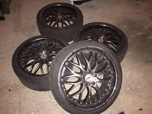 Rims on Tires 19 inch Kitchener / Waterloo Kitchener Area image 1