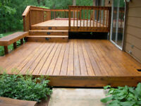Building and staining Decks&fence. Call now and get 10% OFF