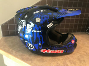 Men's Medium M2R MX/ATV Helmet, Blue &; Black