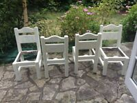 6 chairs shabby chic project