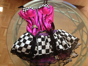 A variety of new or used once Halloween costumes and lingerie