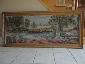 Vintage large framed tapestry wall hanging decor London Ontario image 2