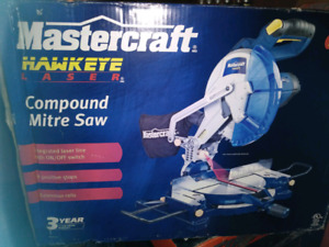 NEW Compound Miter Saw w/ Laser Guide, Extension Rails.....