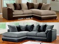 CHENILLE FABRIC SOFA CORNER OR 3+2 SEATER BESTA QUALITY *QUICK DROP**10 DAYS MONEY BACK GUARANTEE *