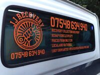 **BREAKDOWN RECOVERY COLLECTION DELIVERY TRANSPORTATION 24/7 SCRAP VEHICLE UPLIFTS LOCAL NATIONAL**