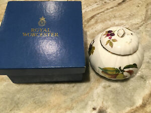 Royal Worcester covered candy dish
