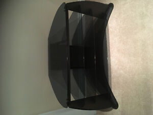 Tempered smoked glass tv stand