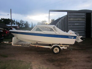 115 HP 16 ft open bow for sale