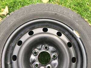 Gislaved Nordfrost 100 94T XL 205/55/16 (tires and steel rims) Kitchener / Waterloo Kitchener Area image 3