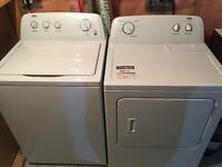 Inglis High Efficency Washer and Dryer 5 months old