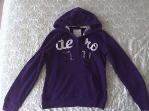 Gently used hoodie (L) and jeans (0, 00, 3/4) for 13-18 y girls