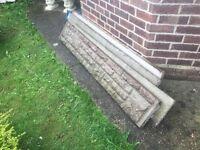 Brick face gravel boards