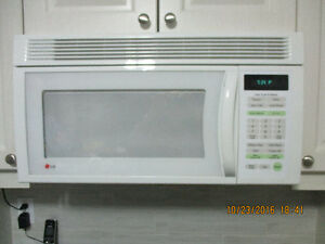 LG over the range microwave and hood