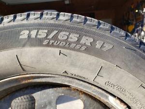 Michelin X-Ice 215/65R17 - 4 Winter Tires & Steel Rims