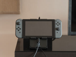 Grey Nintendo Switch /w Hori Stand and USB Extension Cable