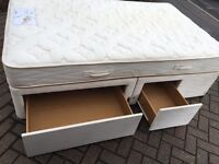 Small double 4ft bed with drawers/ free delivery