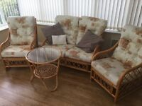Conservatory Furniture - Sofa, 2 Chairs and Glass Top Table