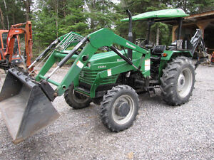 Great little deal 55 hp diesel loader backhoe tractor