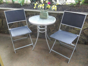 Patio Table & Two Chair Bistro Style Set