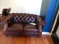 Real Cowhide Leather Loveseat by Moroni - $500 o.b.o