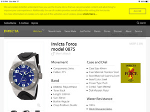 Mens Invicta Model 0875 Watch