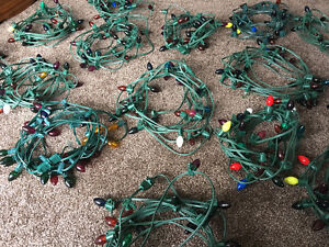 30 Strings of Christmas Lights + Storage Tote Stratford Kitchener Area image 1