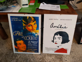 Film posters / artwork framed