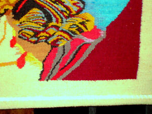 CROWN of THORNS Jesus HAND LOOM WOVEN TEXTILE wall hanging Cambridge Kitchener Area image 6