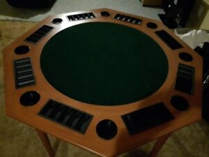 Card Table, 8 positions. Like new condition.