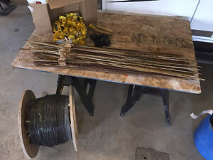 Electric Fence Posts and Wire and Insulators