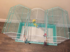 canary and budgies Cage large size very clean llike brand new