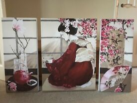 Oriental canvas picture